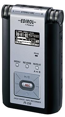 edirol r09 enregistreur audio numérique