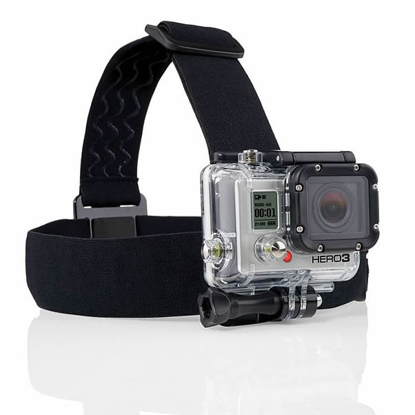 gopro bandeau tete location