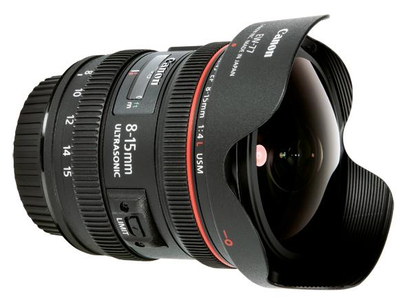 Objectif Canon 8-15mm F4 série L Fisheye